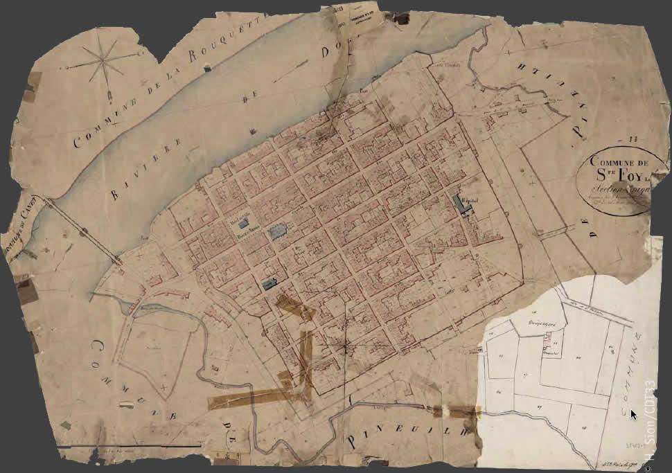 Cadastre napoléonien - Sainte-Foy-la-Grande Archives Départementales de la Gironde