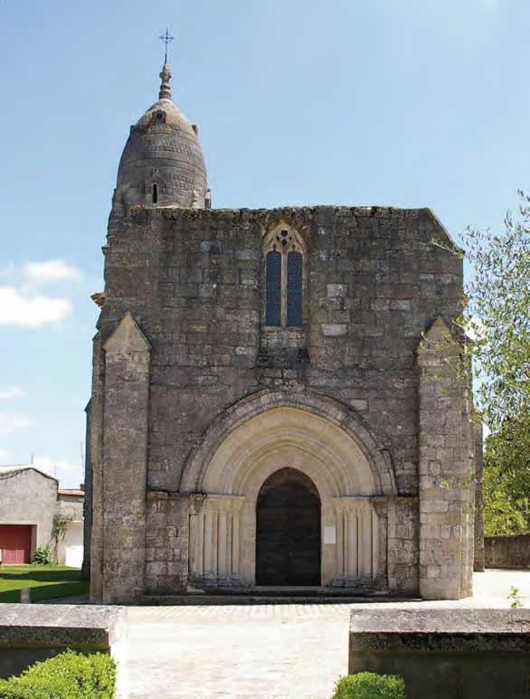 Eglise Saint-André, façade occidentale - Pellegrue
