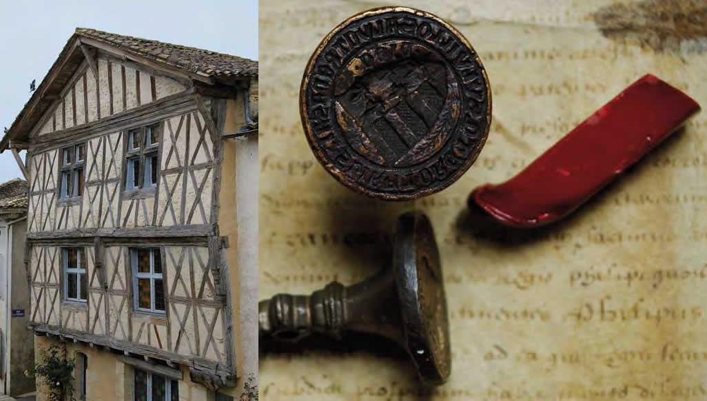 Sceau et Contre-sceau , XIVe siècle Archives municipales - Sauveterre-de-Guyenne