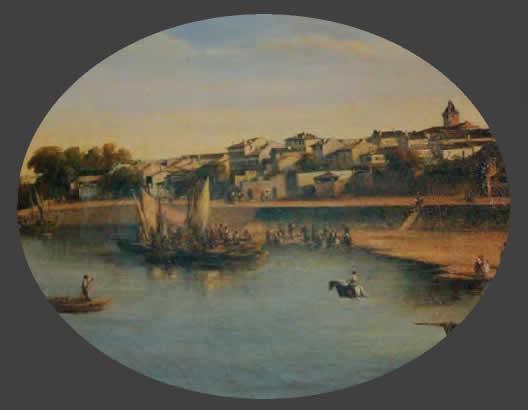 Sainte-Foy-la-Grande avant 1846, huile sur toile- Mairie