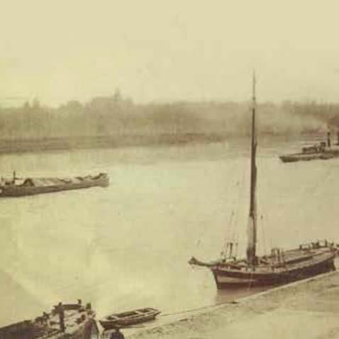 La Garonne et son port
