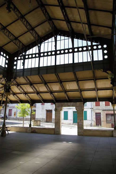 La halle de Pellegrue, Charpente Métallique