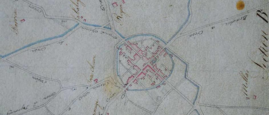 Cadastre napoléonien, plan d'assemblage. Archives municipales- Créon