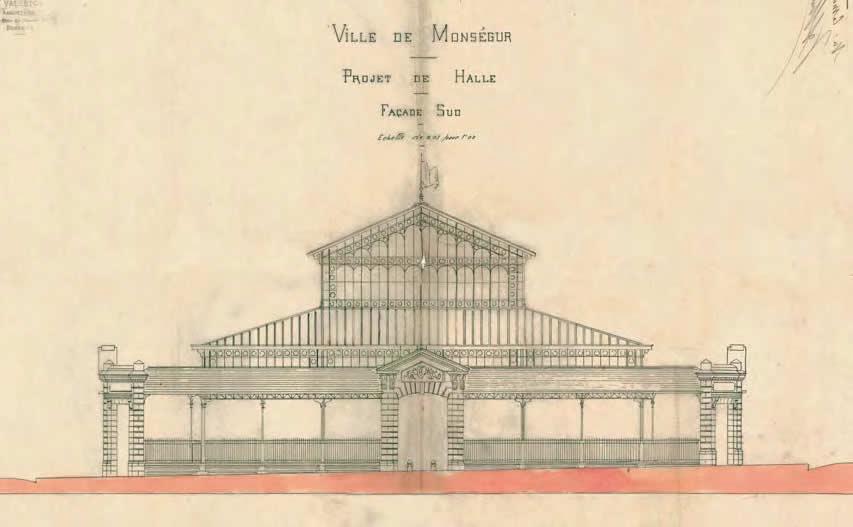Projet de la Halle, 1896 Monségur