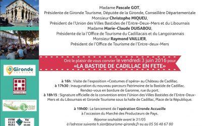 Invitation La Bastide de Cadillac en Fête