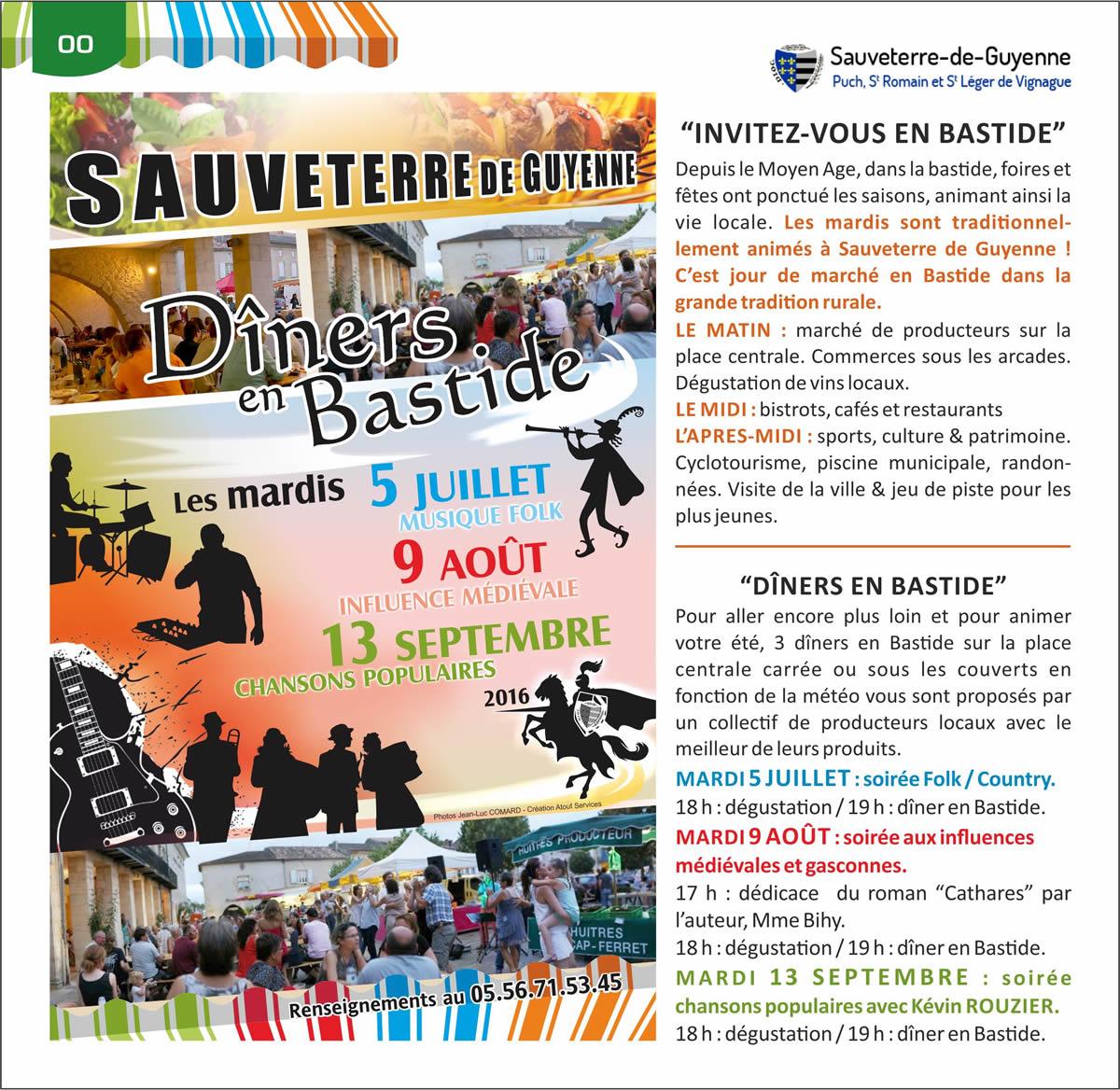 Dîners en Bastide - Sauveterre-de-Guyenne - Bastide Gironde